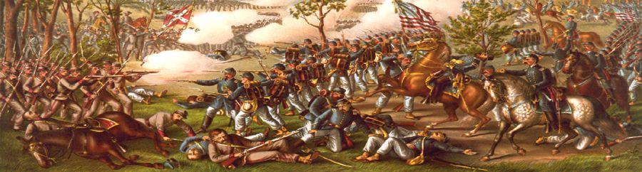 Battle of Atlanta, Georgia by Kurz & Allison, 1888