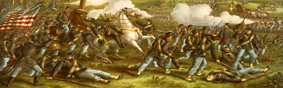 Battle of Wilsons Creek, Missouri by Kurz & Allison, 1893