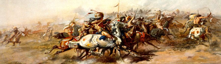 Battle of the Little Bighorn, by Charles M. Russell, 1903