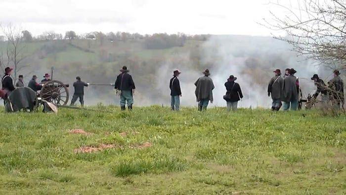 Reenactment of the Battle of Hartville, Missouri