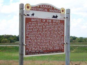 Battle of the Spurs, Kansas Historical Marker