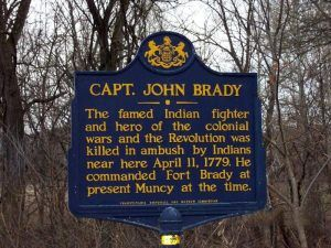 Captain John Brady Historic Marker