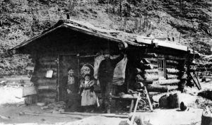 The Carmack Cabin on Bonanza Creek, 1897