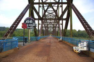Chain of Rocks Bridge on Route 66 in St. Louis, Missouri by Carol Highsmith