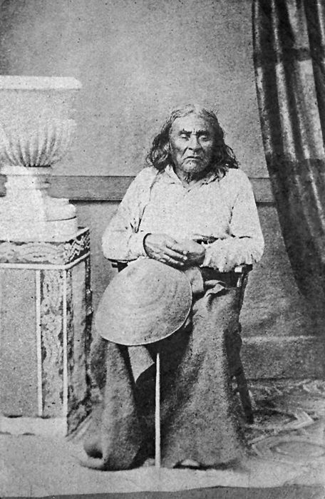 The only known photograph of Chief Seattle, 1864