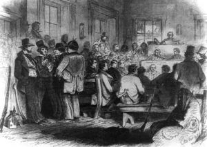 Constitutional Convention, Topeka, Kansas, Frank Leslies Illistrated Newspaper, 1855