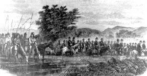 General Crook's army before the Battle of the Rosebud, Frank Leslie Illustrated Newspaper, 1876