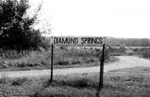 Diamond Spring, Kansas Sign by Kathy Weiser-Alexander