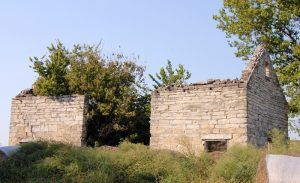 Diamond Springs, Kansas Stone Building by Kathy Weiser-Alexander