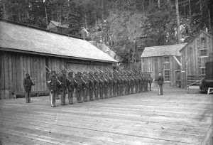 Company L of the 24th Infantry at Dyea, Alaska