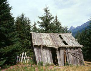 Dyea, Alaska Shack by Jet Lowe, 1982
