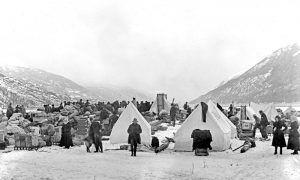 Dyea, Alaska Winter Beach Camp