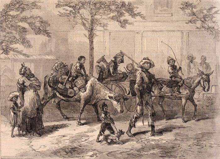 Exodusters En Route to Kansas by Harper's Weekly, 1879