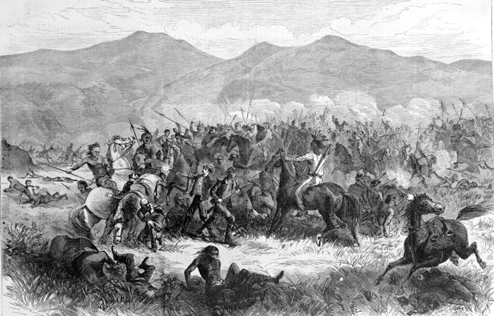 The Fetterman Fight at Fort Phllip Kearny, Wyoming