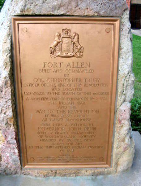 Fort Allen, Westmoreland County, Pennsylvania – Legends of
