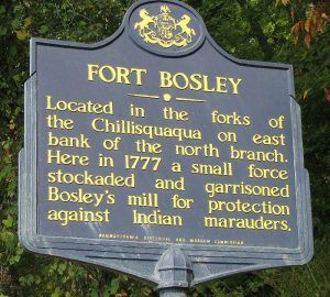 Fort Bosley, Pennsylvania Historic Marker