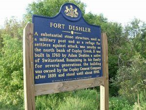 Fort Deshler, Pennsylvania Historic Marker