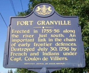 Fort Granville Pennsylvania Historic Marker