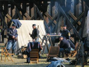 Civil War Reenactment at Harpers Ferry, West Virginia