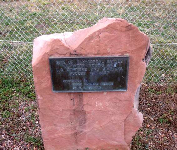 Hayfield Fight Historical Marker