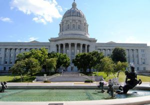 Missouri Capitol at Jefferson City by Kathy Weiser-Alexander.