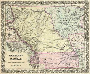 Kansas and Nebraska Territories, 1855