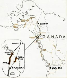Klondike Gold Rush Map