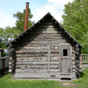 Original William Moore Homestead Cabin, by the National Park Service