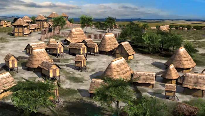 Native Village with a Corral