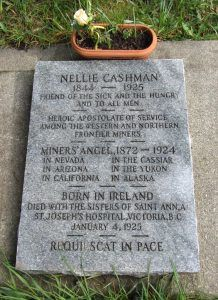 Nellie Cashman Grave at  Ross Bay Cemetery Victoria, British Columbia, Canada