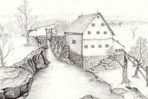 Old Grist Mill by Dan Theisen