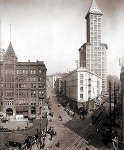 Vintage Pioneer Square, Seattle, Washington