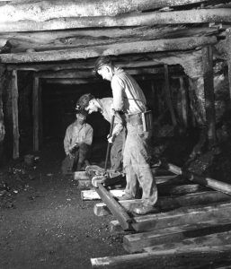 Coal Miners at the Pittsburg Coal Company, Pennsylvania by John Collier, 1942