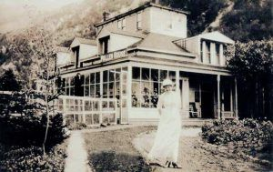 Harriet Pullen at the Pullen House, Skagway, Alaska