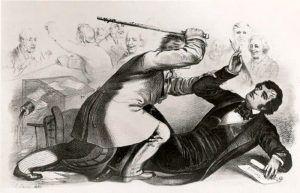 Senator Charles Sumner Attacked