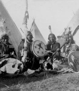 Sioux Men in Camp, Truman W. Ingersoll, 1900