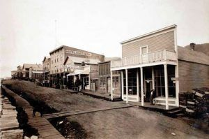 Main Street in Skagway, Alaska about 1900