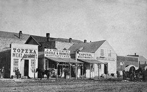 Topeka, Kansas - Kansas Avenue in the early 1860's