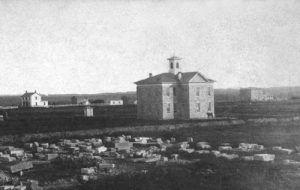 Lincoln College at Topeka, Kansas by Alexander Gardner, 1867