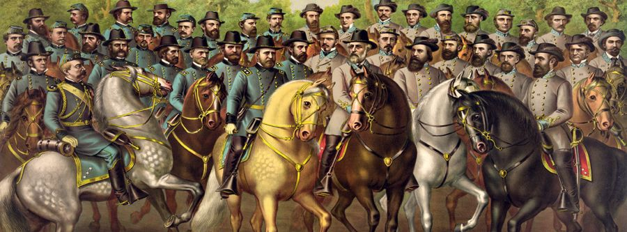 Union and Confederate Generals by Kurz & Allison