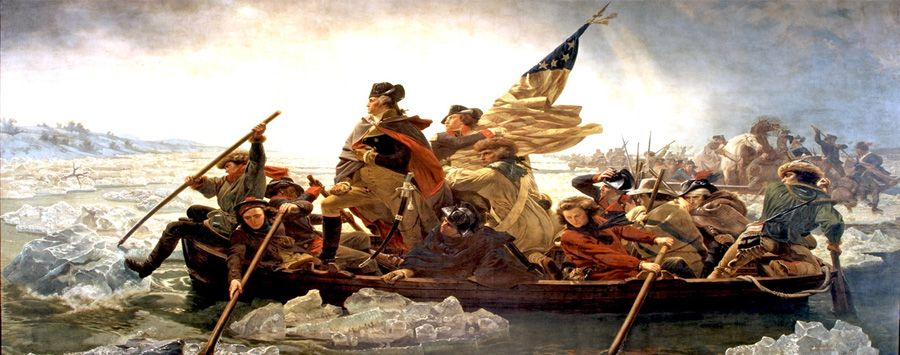 George Washington Crossing the Delaware River by Emanuel Leutze
