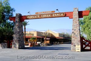 Furnace Creek Ranch entry in Death Valley National Park, California. Photo by Kathy Weiser-Alexander.