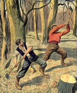 Civilians fighting during the Aroostook War