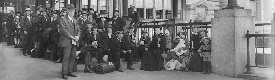 Immigrants at Ellis Island about 1910