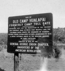 Camp Hualapai Marker