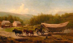 Conestoga Wagon by Newbold Hough Trotter, 1883