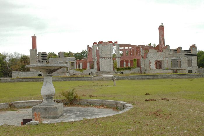 The ruins of the Carnegie Dungeness Mansion, Cumberland Island, Georgia by the National Park Service