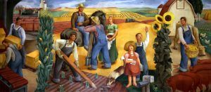 Kansas Farming Mural in the U.S. Courthouse, Wichita, Kansas by Richard Haines, 1936