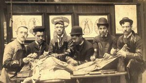 Medical Students With a Cadaver in the 19th Century