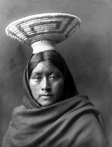 Papago Indian Woman by Edward S. Curtis, 1907